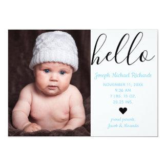 Olá! foto do roteiro - anúncio do nascimento