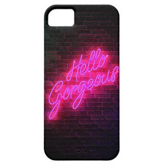 Olá! lindo - sinal de néon capa barely there para iPhone 5