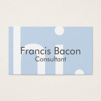 Olá! luz - cartão de visita azul