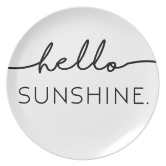 Olá! luz do sol pratos