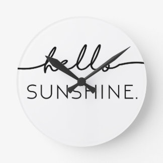 Olá! luz do sol relógios para pendurar