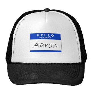 Olá! meu nome é Aaron Boné
