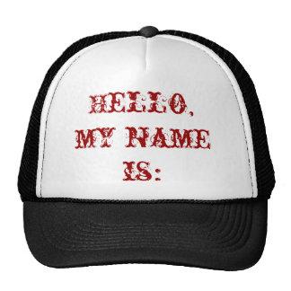 Olá!, meu nome é: boné
