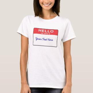 Olá! meu nome é… camiseta