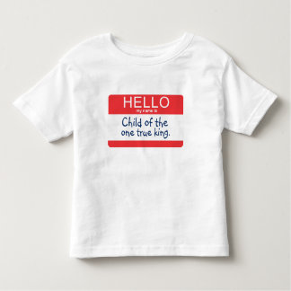 Olá! meu nome é… camiseta infantil