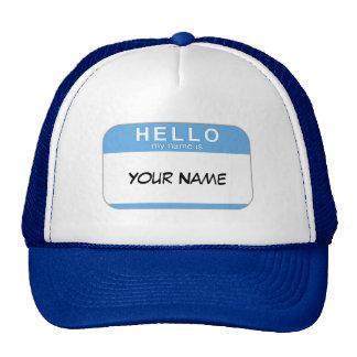 Olá! meu nome é chapéu boné