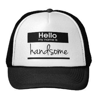 """""""Olá! meu nome é"""" chapéu considerável do Boné"""