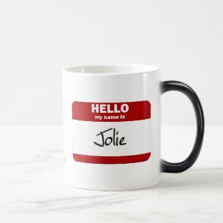 Olá! meu nome é Jolie (vermelho) Canecas