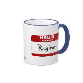 Olá! meu nome é Regina (vermelha) Canecas