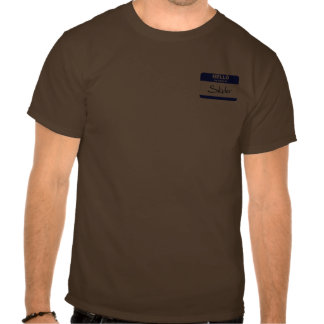 Olá! meu nome é Skyler (azul) T-shirts