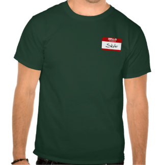 Olá! meu nome é Skyler (vermelho) Camiseta