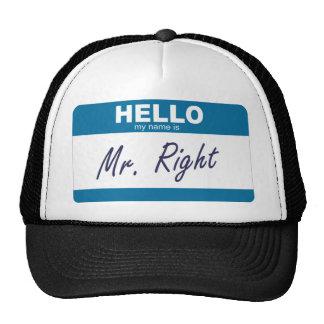 olá! meu nome é Sr. direito Boné
