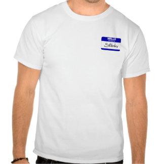 Olá! meu nome é Stanley (azul) Tshirts