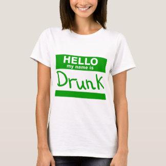 Olá! meu nome é t-shirt bêbedo camiseta