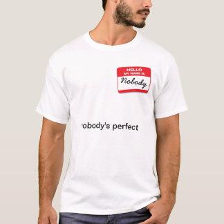 olá! meu nome não é ninguém camiseta