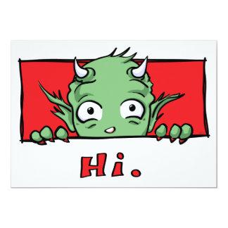 """Olá!."" Monstro - convites"