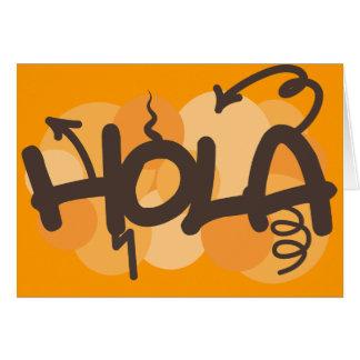 Olá! no espanhol cartoes