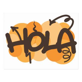 Olá! no espanhol cartão postal