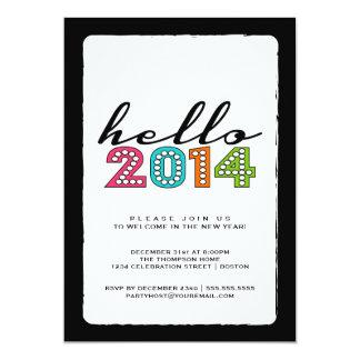 Olá! o feliz ano novo partido de 2014 vésperas de convite personalizados