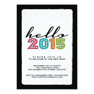 Olá! o feliz ano novo partido de 2014 vésperas de convite 12.7 x 17.78cm