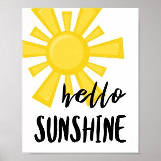 Olá! poster da luz do sol