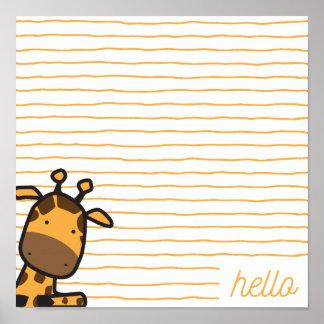 Olá! poster do girafa
