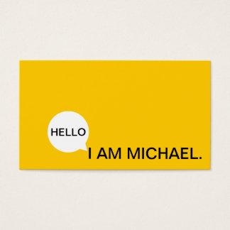 Olá! preto moderno da bolha | do discurso & cartão de visitas