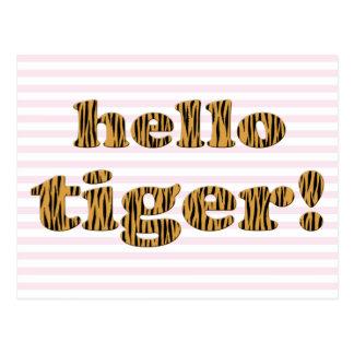 Olá! tigre! Cartão do impressão do tigre do