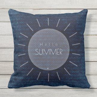 """Olá! travesseiro decorativo 20"""" do verão x 20"""" almofada para ambientes externos"""
