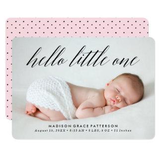 Olá! um anúncio pequeno do nascimento da foto de |