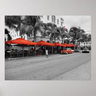 Oldtimers sul de Miami da praia da movimentação do Posters