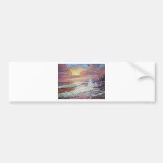 "Óleo canvas do Seascape 18x24 bonito das"" Adesivo"
