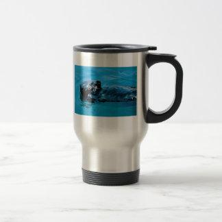 Óleo da lontra de mar caneca térmica