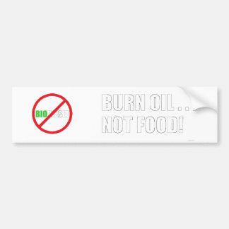 Óleo da queimadura…. Não comida! Adesivo Para Carro