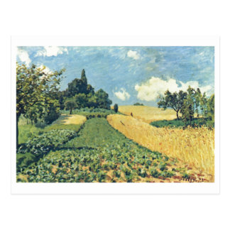 Óleo de Alfred Sisley - de Hügeln von Argenteuil 1 Cartoes Postais