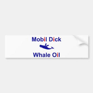 Óleo de baleia do pau de Mobil Adesivo Para Carro