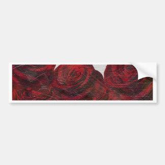 Óleo de rosas vermelhas Textured Adesivo Para Carro