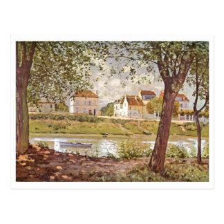 Óleo de Seine 1872 do der de Alfred Sisley - de Do Cartao Postal