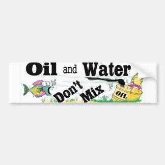 óleo e água adesivo