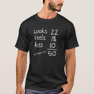 Olha, sente, actua 50th T do aniversário Camiseta