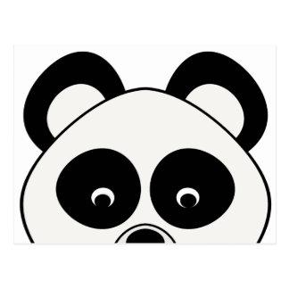 Olhando o cartão da panda