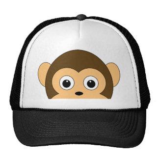 Olhando o chapéu do macaco boné