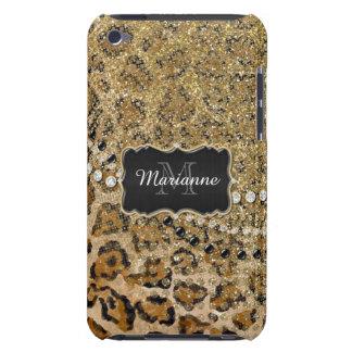 Olhar animal do brilho do impressão do leopardo capa para iPod touch