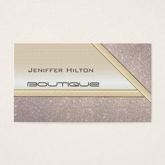 Olhar brilhante glittery chique elegante cartão de visitas