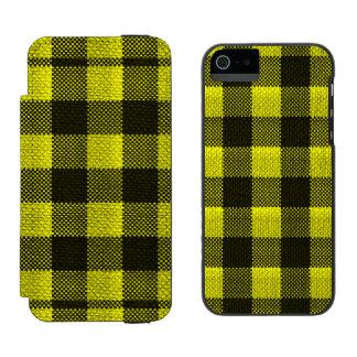 Olhar Checkered de serapilheira do teste padrão do Capa Carteira Incipio Watson™ Para iPhone 5