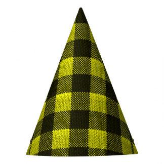 Olhar Checkered de serapilheira do teste padrão do Chapéu De Festa