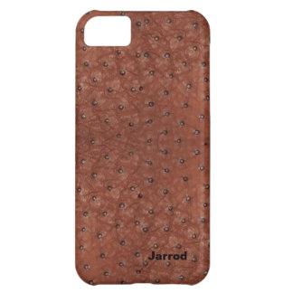 Olhar considerável do couro da avestruz de Brown Capa Para iPhone 5C