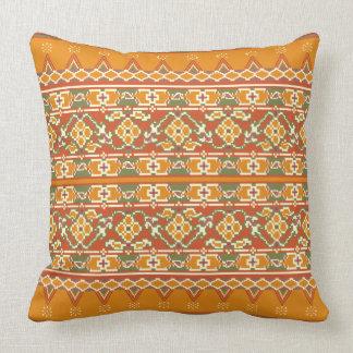 Olhar da beira de Ikat do travesseiro do coxim do Almofada