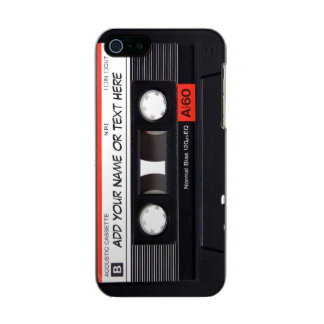 Olhar da cassete de banda magnética de música do capa incipio feather® shine para iPhone 5