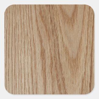 Olhar da grão da madeira de carvalho adesivo quadrado